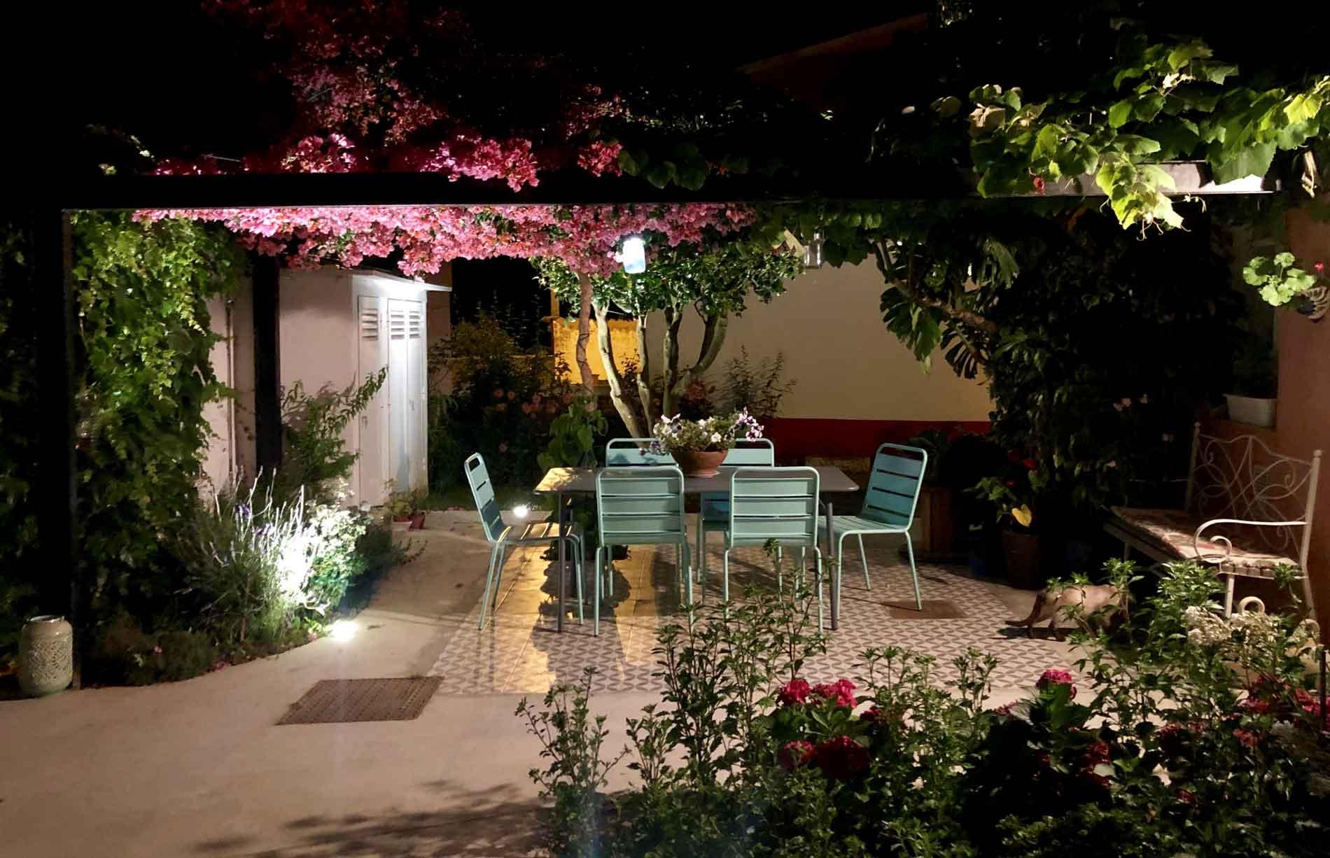 Cenador noche- Casa Lourido